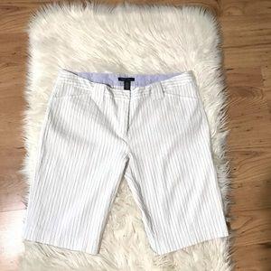 KENNETH COLE Seersucker Striped Bermuda Shorts